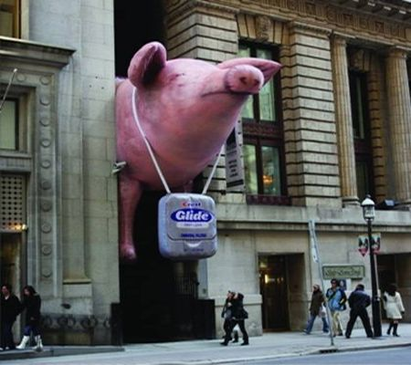 Marketing con cerdo gigante