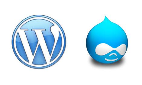 Logos WordPress y Drupal